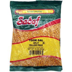 Sadaf Yellow Split Peas - Toor Dal 16 oz.