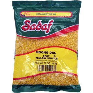 Sadaf Yellow Split lentils - Moong Dal 16 oz.