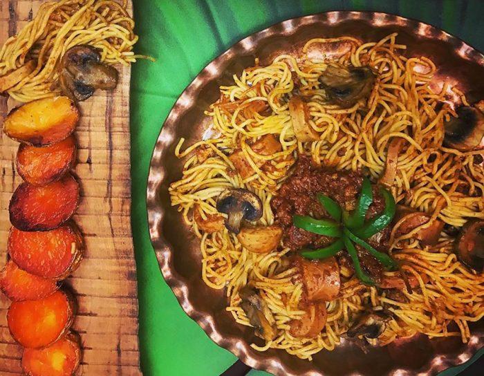 Persian Macaroni with Potato Tahdig