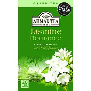 Ahmad Jasmine Romance Finest Green Tea with real Jasmin 20 Foil T/B
