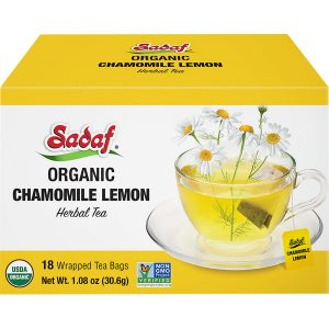 Sadaf Organic Chamomile Lemon Tea 1.08 oz